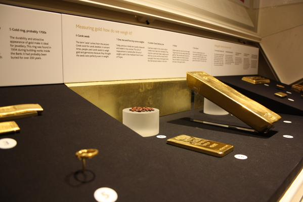 There's a new display of gold bars at the Bank of England Museum