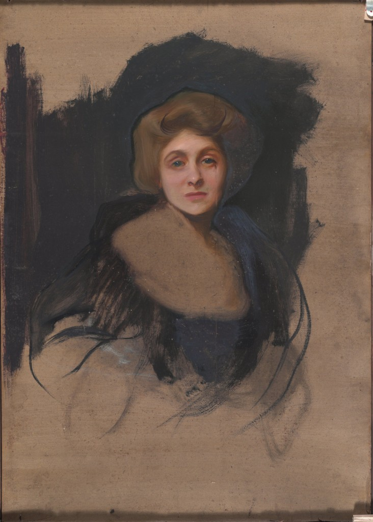 Portrait of the Viscountess Lee of Fareham (recto), 1912,  Philip Alexius de László, Oil on board, 120.5 x 91.5 cm