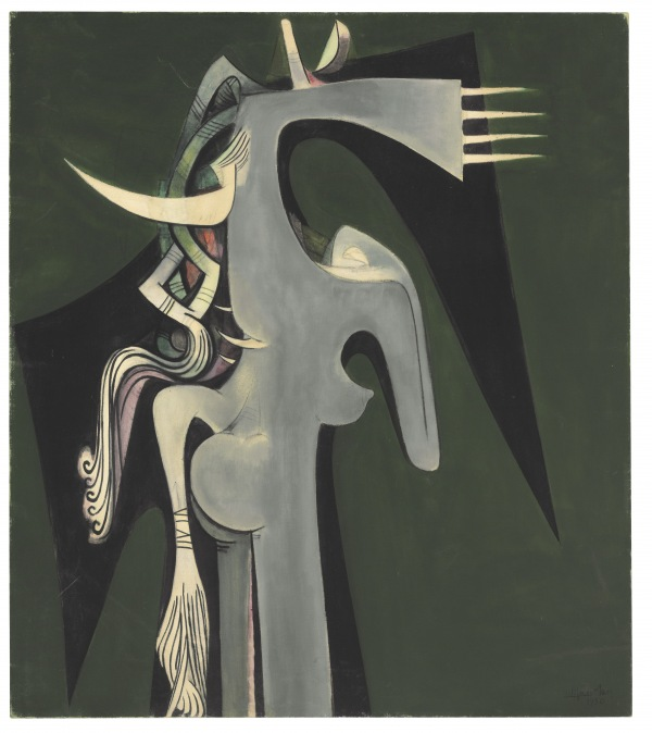Wifredo Lam, Horse-headed Woman 1950, oil paint on canvas, The Rudman Trust © SDO Estate of Wifredo Lam
