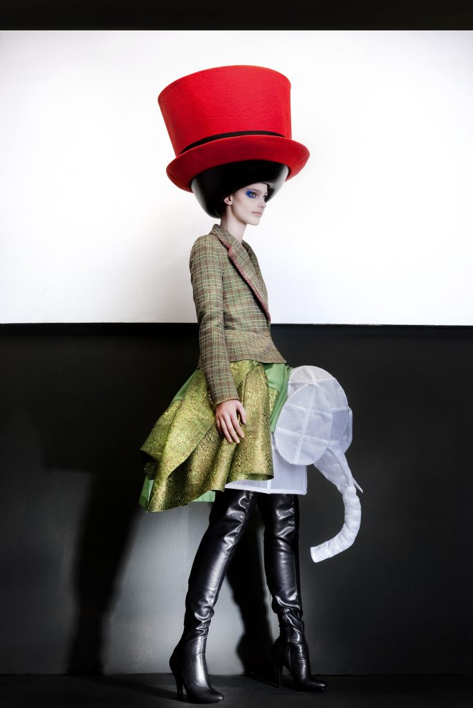 Walter Van Beirendonck Hat: Stephen Jones, Autumn/Winter 2010 – 2011. © Ronald Stoops`Walter Van Beirendonck Hat: Stephen Jones, Autumn/Winter 2010 – 2011.