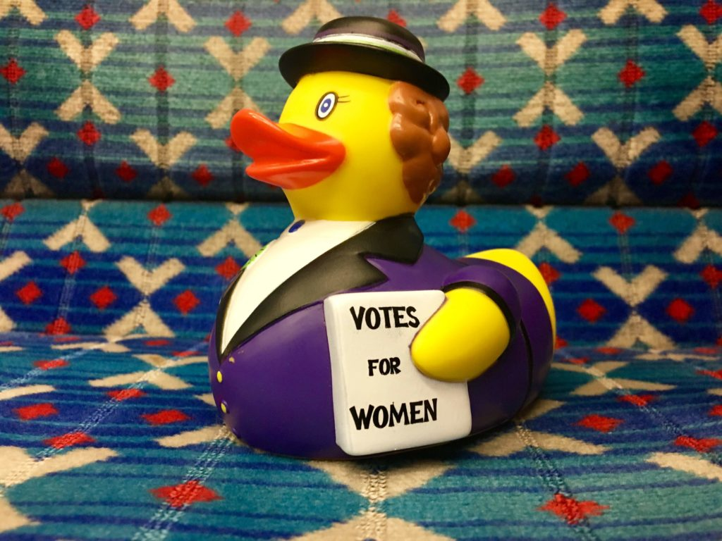 Houses of Parliament - Voice & Vote #suffraduck