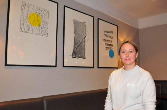 Joanna Brinton, exhibiting at London Bridge Hotel's OPEN