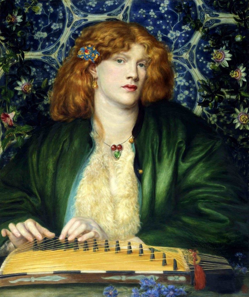 Dante Gabriel Rossetti - The Blue Bower, 1865.